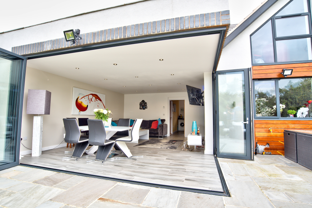 Anthracite Grey Bi Folding Patio doors